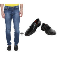 Combo of Stylish Slim Fit Jeans + Formal Shoes_Os192