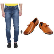 Combo of Stylish Slim Fit Jeans + Formal Shoes_Os193