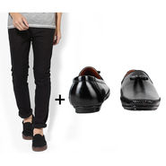 Combo of Stylish Slim Fit Jeans + Formal Shoes_Os198