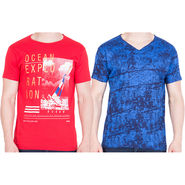 Combo of 2 American Elm Half Sleeves Slim Fit Tshirts_H1013