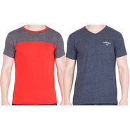 Combo of 2 American Elm Half Sleeves Slim Fit Tshirts_H1024