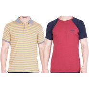 Combo of 2 American Elm Half Sleeves Slim Fit Tshirts_H11072