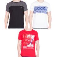 Combo of 3 American Elm Half Sleeves Slim Fit Tshirts_H10149