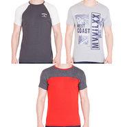 Combo of 3 American Elm Half Sleeves Slim Fit Tshirts_H104710