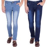 Combo of 2 US Blue Slim Fit Cotton Stretchable Jeans_Ubj0203 - Blue