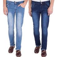 Combo of 2 US Blue Slim Fit Cotton Stretchable Jeans_Ubj1314 - Blue