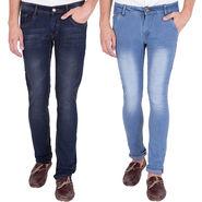 Combo of 2 US Blue Slim Fit Cotton Stretchable Jeans_Ubj0206 - Blue
