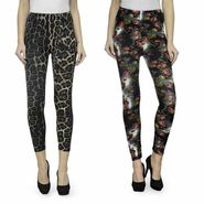 Combo of 2 Oleva New Flower Print Jeggings_Onfp1
