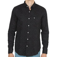 United Colors of Benetton Slim Fit Full Sleeves Shirt For Men_Os0059 - Black