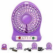 Vizio Rechargeable USB Mini Fan with Battery (Purple)