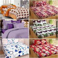Story@Home 100% Cotton Combo Of 3 Double Bedsheet + 3 Single Bedsheet With 9 Pillow Covers _CN_1426-CN1429-CN1428-SP1204-SP1211-FY1420