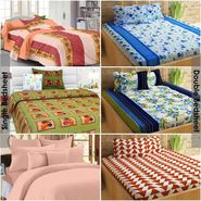 Story@Home 100% Cotton Combo Of 3 Double Bedsheet + 3 Single Bedsheet With 9 Pillow Covers _CN_1405-CN1431-CN1438-SP2005-KZ1407-FY1220