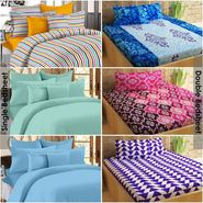 Story@Home 100% Cotton Combo Of 3 Double Bedsheet + 3 Single Bedsheet With 9 Pillow Covers _CN_1436-CN1421-CN1406-SP1202-SP2004-SP2006