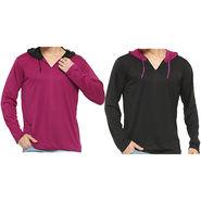 Pack of 2 Rico Sordi Full Sleeves Hoodies_Rsmp21 - Black & Maroon