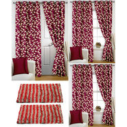 Story@Home Curtains Combo of 2 Pc Door Curtiants 7 Feet + 4 Pc Window Curtains 5 Feet + 2 Pc Doormat free _ DNR_2016-WNR_2-2016-EC_2-1426