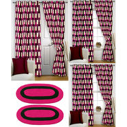 Story@Home Curtains Combo of 2 Pc Door Curtiants 7 Feet + 4 Pc Window Curtains 5 Feet + 2 Pc Doormat free _ DNR_3049-WNR_2-3049-EC_2-1406