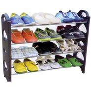 12 Pair Stackable Shoe Rack Storage 4 Layer - 12SHRK