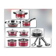 13 Pcs Colored Stainless Steel Cookware Set
