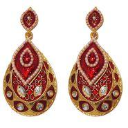 Kriaa Kundan Meenakari Earrings _1303124