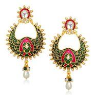 Kriaa Meenakari Pearl Drop Dangle Finish Earrings _1305432