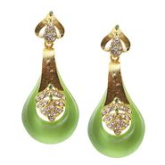 Kriaa Austrian Stone Resin Finish Earrings _1305734