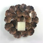 Wall Candle pillar holder - bronze1405-1523