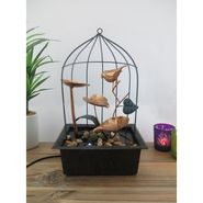 Bird Cage Metal fountain with LED light1412-0515
