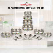16 Pcs Meenakari Serve & Store Set