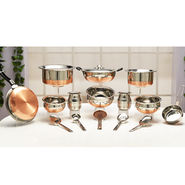 18 Pcs Copper Bottom Cook & Serve Set