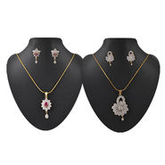 2 American Diamond Pendant Sets
