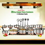 20 Pcs Copper Base Cook & Serve Set + 5 Pcs Kitchen Tools_Upsell_Ad home pune