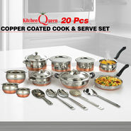 20 Pcs Copper Coated Cook & Serve Set