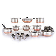 20 Pcs Copper Bottom Multipurpose Cook & Serve Set