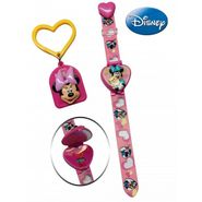 Disney Minnie Watch with Matching KeyChain