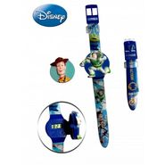 Disney Woody & Buzz Watch - with Interchangeable Strap and Flip-Top Covers