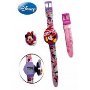Disney Minnie Watch - with Interchangeable Strap and Flip-Top Covers