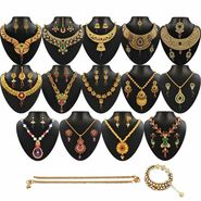 Kriaa Multicolor Set of 16 Jewellery Combo Set_22015