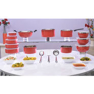 24 Pcs Colored Steel Cook & Store Set