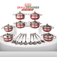 24 Pcs Designer Serving Set