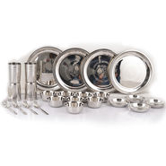24 Pcs Designer Steel Dinner Set