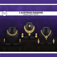 3 Austrian Diamond Jewellery Sets (3AUD4)