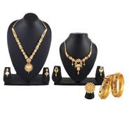3 Gold Jewellery Sets with 2 Kada