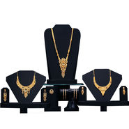 3 Gold Jewellery Sets with 4 Free Bangles (3GJ4FB3)