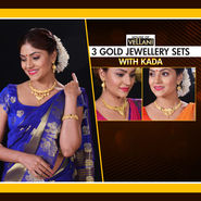 3 Gold Jewellery Sets with Kada (3GJSW1)