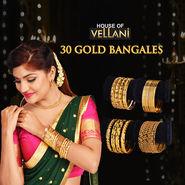 30 Gold Bangles