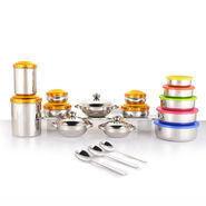 31 Pcs Coloured Stainless Steel Storage Set