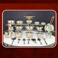 32 Pcs Maha Copper Base Cookware Set