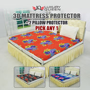 3D Mattress Protector + 2 Pillow Protector (MPP1) - Pick Any 1