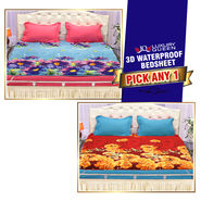 3D Waterproof Bedsheet - Pick Any One