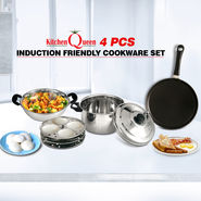 4 Pcs Induction Friendly Cookware Set